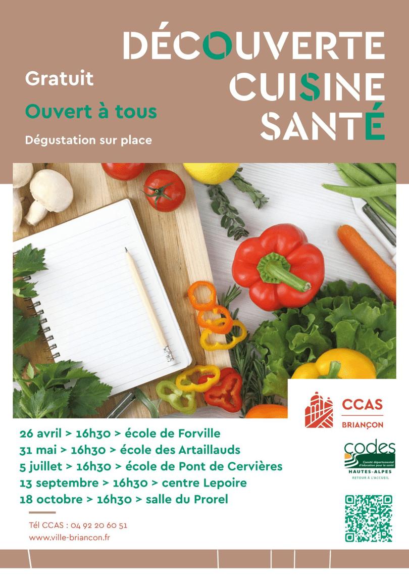 Ateliers de d couverte cuisine sant prochain rendez for Ateliers de cuisine