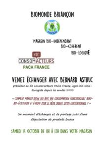 Programme détaillé des Journées de Rencontres Agro-Bio-Écologiques Briançonnaises d'Octobre 21
