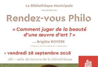 Les Rendez-vous Philo de la Bibliothèque Municipale 1