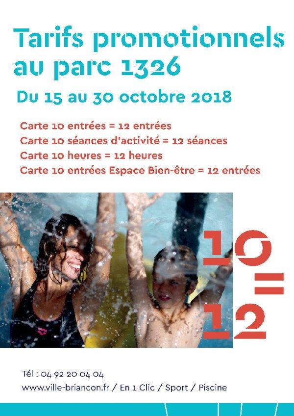 Promo 10 = 12 à la piscine 7