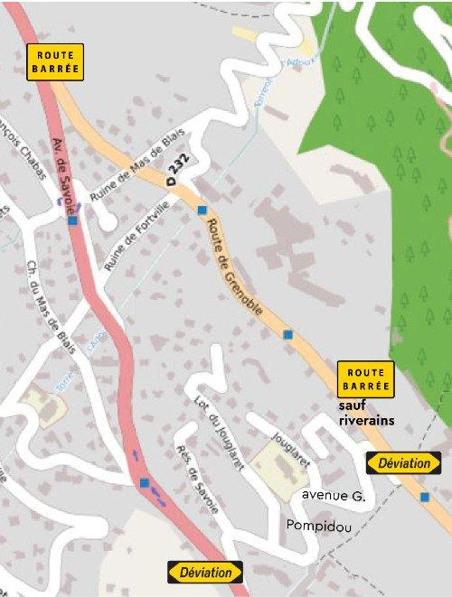 Info travaux : route de Grenoble 3