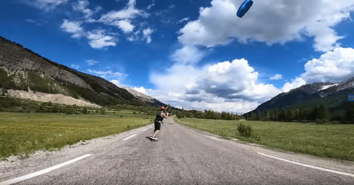 Hautes-Alpes : images insolites de Kite Skate à Serre-Chevalier Vallée Briançon - www.dici.fr 16
